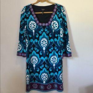 Laundry Long Sleeve Shift Dress